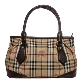 Burberry 'Heathcliff' Medium Beige Haymarket Tote