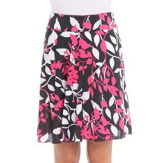 Club LA Women's Pink Printed Mid-length Skirt