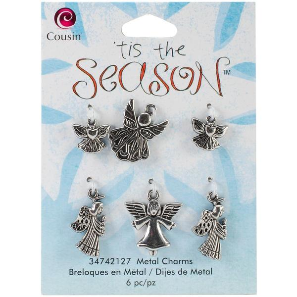 Tis The Season Metal Charms - Angels 6/Pkg