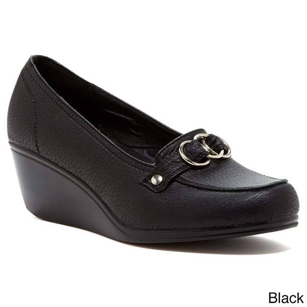 Comforts by Madness Women's Wedge Buckle Loafers