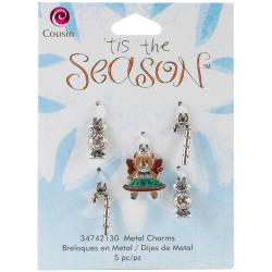 Tis The Season Metal Charms - Bear/Candy 5/Pkg