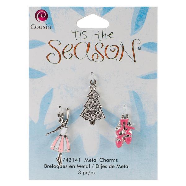Tis The Season Metal Charms - Ballet/Tree 3/Pkg
