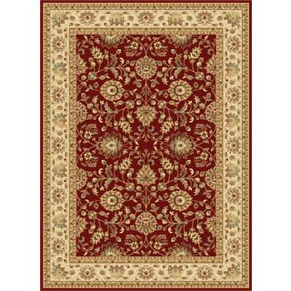 Centennial Red Traditional Area Rug (5'3 x 7'3)