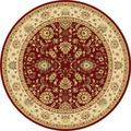Centennial Red Round Traditional Area Rug (7'10 Round)