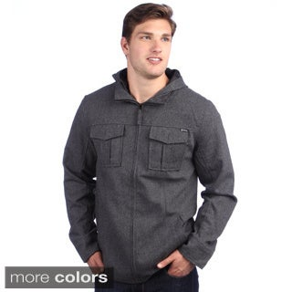 Elixir Men's 'Highlander' Wool Blend Hooded Jacket