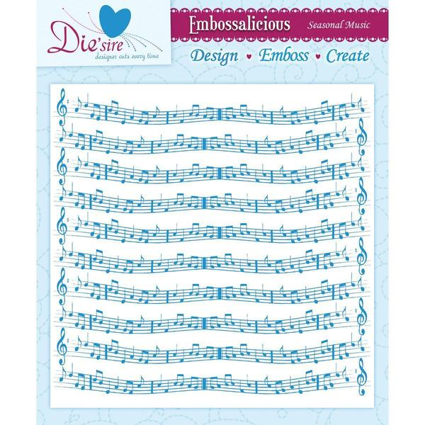 Embossalicious Embossing Folders 8 X8 - Seasonal Music