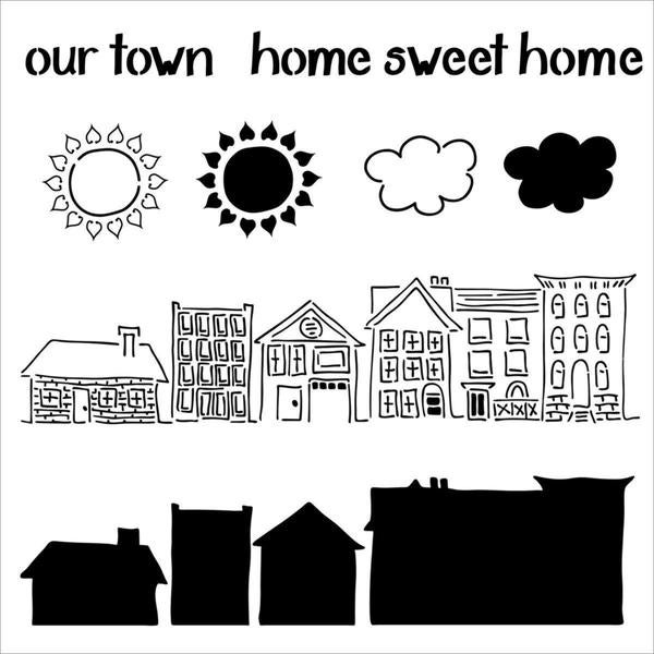 Crafter's Workshop Templates 12 X12 - Our Town