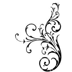 Crafty Individuals Unmounted Rubber Stamp 4.75 X7 Pkg - Large Elegant Swirl