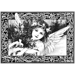 Crafty Individuals Unmounted Rubber Stamp 4.75 X7 Pkg - An Adorable Christmas Angel
