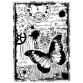 Crafty Individuals Unmounted Rubber Stamp 4.75 X7 Pkg - Steampunk Butterfly