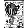Crafty Individuals Unmounted Rubber Stamp 4.75 X7 Pkg - Around The World
