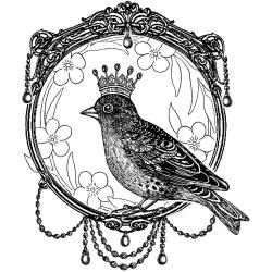 Crafty Individuals Unmounted Rubber Stamp 4.75 X7 Pkg - A Royal Bird