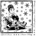 Crafty Individuals Unmounted Rubber Stamp 4.75 X7 Pkg - Little Snow Baby