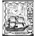 Crafty Individuals Unmounted Rubber Stamp 4.75 X7 Pkg - Voyage Of Discovery