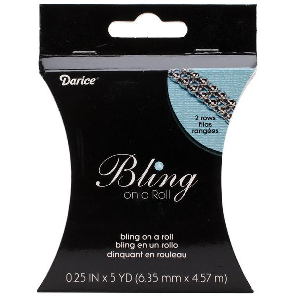 Bling On A Roll 3mm X 5yds - 2 Row, Silver