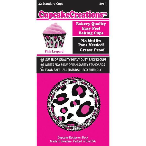 Standard Baking Cups - Pink Leopard