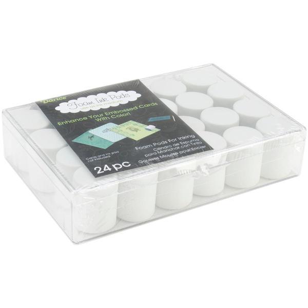 Darice Foam Ink Pods 24/Pkg - Foam Pods In Clear Plastic Storage