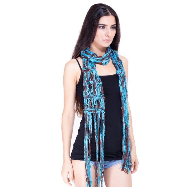 Loose-knit Boho Chic Knitted Scarf (Nepal)