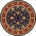 "Centennial Navy Round Traditional Area Rug (7'10"")"