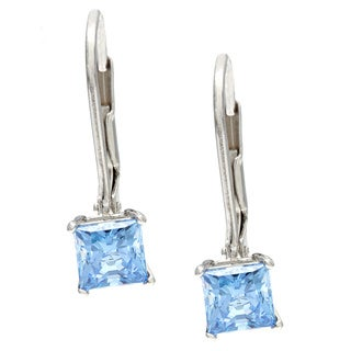 Sunstone Sterling Silver Dangle Earrings Made with Swarovski Zirconia