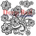 Deep Red Cling Stamp - Daisy Splash