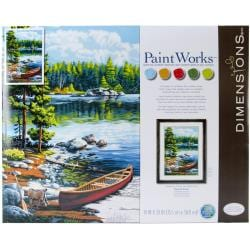 Paint By Number Kit 14 X20 - Canoe By The Lake