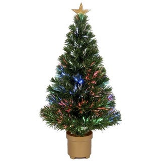 Multi-color LED Fiber Optic Tree