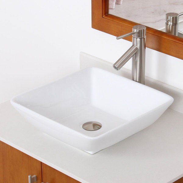 ... Bathroom Sink with Round Design and Brushed Nickel Finish Faucet Combo