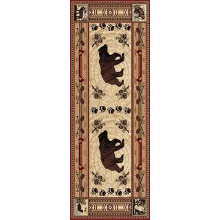 """Natural Red Lodge Area Rug (2'7""""x7'3"""")"""