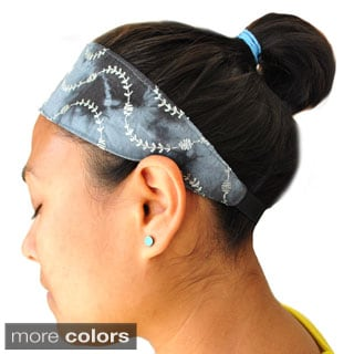 Embroidered Tie-dye Yoga Headband (Nepal)