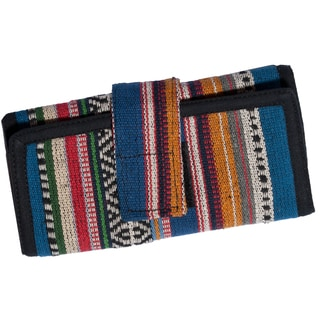 Knit Blue Cotton Checkbook Wallet (Nepal)