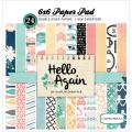 Hello Again Cardstock Pad 6 X6 24/Sheets - Double-Sided