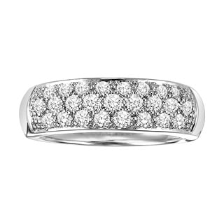 Cambridge Sterling Silver 3/4ct TDW Diamond Pave Anniversary Band