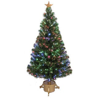 48-inch Multi-color LED Fiber Optic Christmas Tree