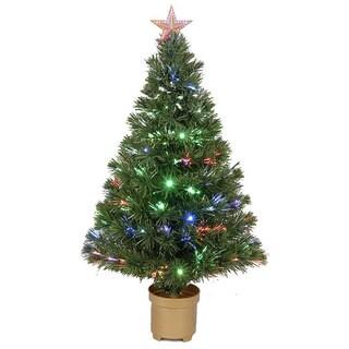 36-inch Multi-color LED Fiber Optic Christmas Tree