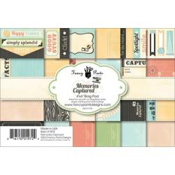 Memories Captured Brag Paper Pad 4 X6 -