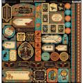 Steampunk Spells Cardstock Stickers 12 X12 - Borders/Tags/Icons