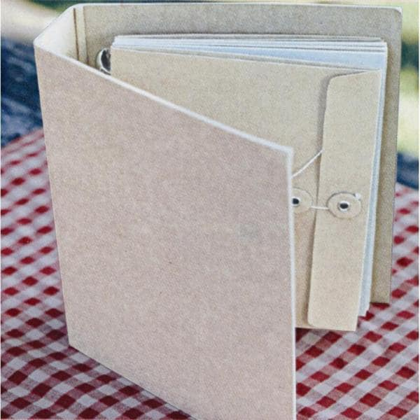 Dry Goods Canvas Cover Envelope Album 7 X9 -