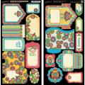 Bohemian Bazaar Cardstock Die-Cuts 6 X12 Sheets 2/Pkg - Tags & Pockets