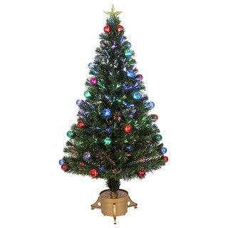 48-inch Multicolored LED Fiber Optic Tree