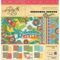 Bohemian Bazaar Double-Sided Paper Pad 12 X12 - 24 Sheets - 8 Designs/3 Each