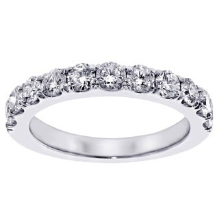 Platinum or 14k/ 18k Gold 1ct TDW Diamond Wedding Band (F-G, SI1-SI2)
