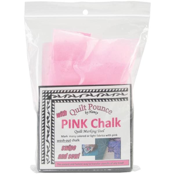 Quilt Pounce Pad With Chalk Powder - 4 Ounces Pink