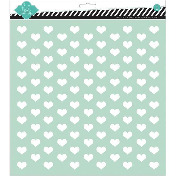 Stencils 12 X12 - Tiny Hearts