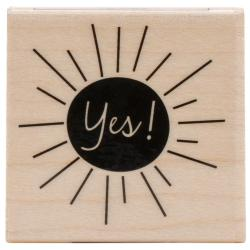 Hero Arts Mounted Rubber Stamp 1.5 X1.5 - Yes!