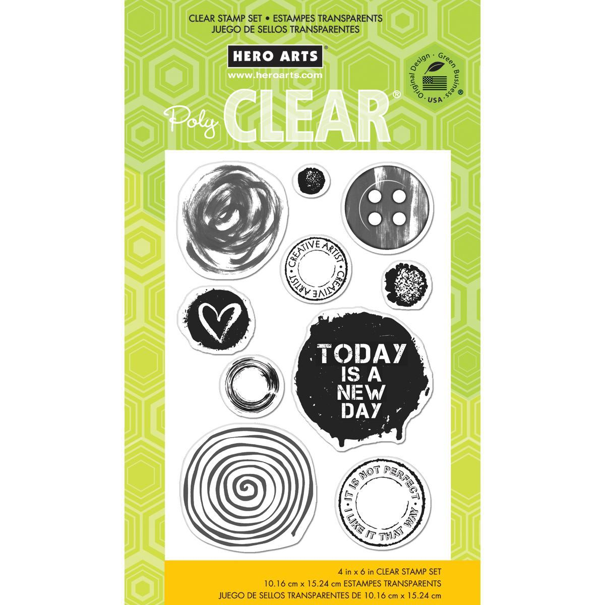 Hero Arts Clear Stamp 4 X6 Sheet - Not Perfect