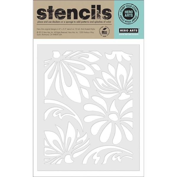 Hero Arts Stencils - Large Lotus Pattern