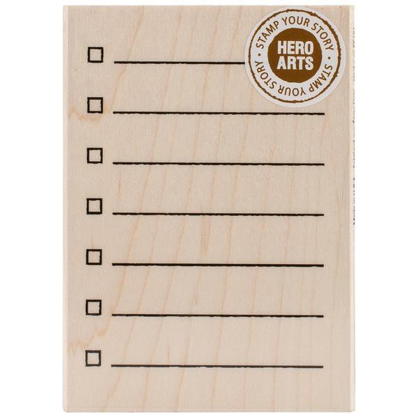 Hero Arts Mounted Rubber Stamps 3 X4  - My Checklist 11782747