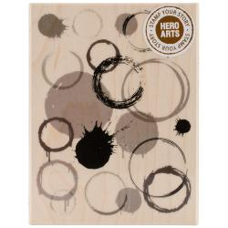 Hero Arts Mounted Rubber Stamps 4.25 X3 - Paint Print