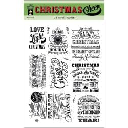 Hot Off The Press Acrylic Stamps 6 X8  Sheet - Christmas Cheer